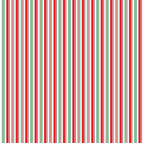 Winter is Here Red Green Stripes