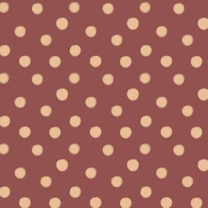 Boho Dots | Creme Brule Spots on Marsala | Wine and Cream Polka Dot