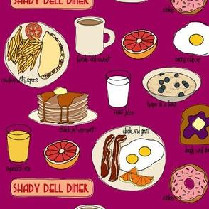 Breakfast @ Shady Dell (purple)