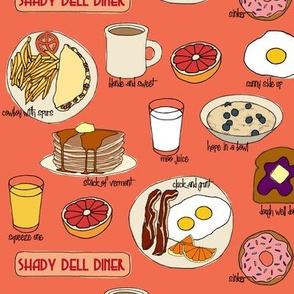 Breakfast @ Shady Dell (peach)