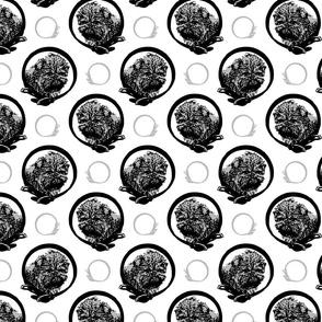 Collared Affenpinscher portraits - gray