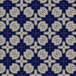 indigo batik crosses