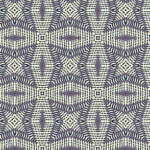 stitched squares indigo