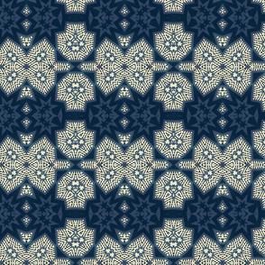 shibori stars indigo