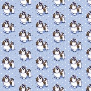 Shih Tzu Beauty Blue Small Print