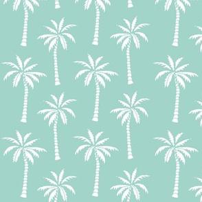 palm tree // mint simple summer tropical palms print trendy print