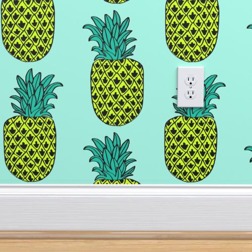 4825067 pineapple  summer tropical exotic pineapple fruit fruits mint by andrea lauren