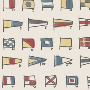 Nautical Signal Flags - Vintage Colorway