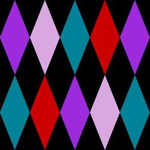 large harlequin diamonds - mad purple