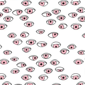 Look at me eyes illustration ink drawing cool eye balls print