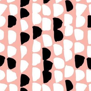 Coral pink bubbles scandinavian modern abstract style pastel circle bubble design