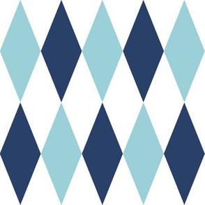 large blue harlequin diamonds