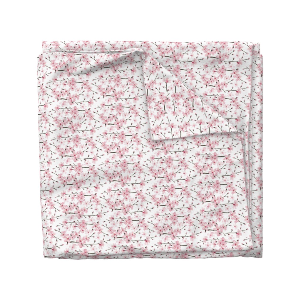 Wyandotte Duvet Cover featuring cherry blossom watercolor  // cherry blossom floral by magentarosedesigns