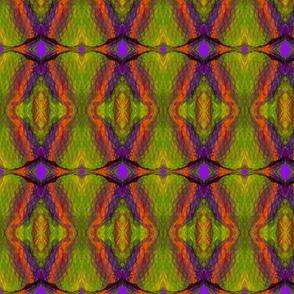 Lime Purple Crinkle #13