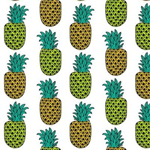 pineapple // white summer tropical exotic summer fruits
