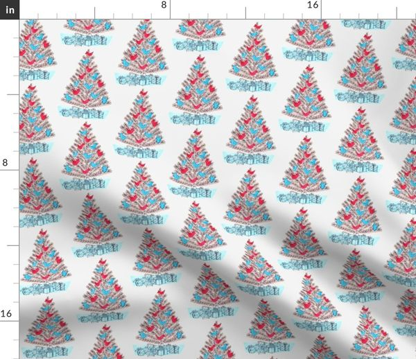 A golden Holiday ornaments on Cream Quilting 100/% cotton fabric by the yard