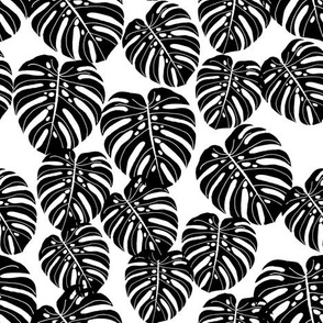 monstera leaf fabric // palm print tropical palm black and white kids summer 2016 palm print trend