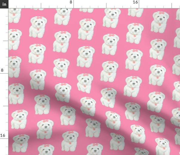 Poodle UK Sale Bichon Frise Watercolour Dog Cushion Cover Linen-Cotton