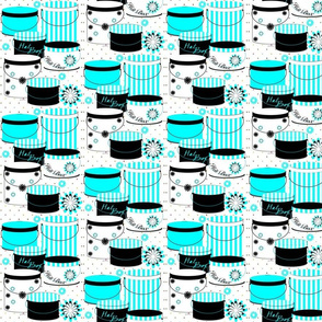 Black & Baby Blue Hat Boxes