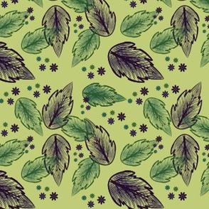 minty silk leaves