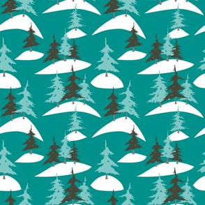 Alpine Tree Forest (Teal)