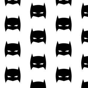 Superhero Bat Mask Black and White