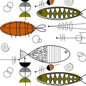 Mid-Century Modern Fish Art 2