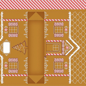 gingerbread house gift bag
