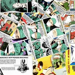 vintage comic book medical - LARGE PRINT