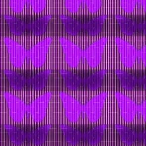 Purple Butterfly Faux Weave