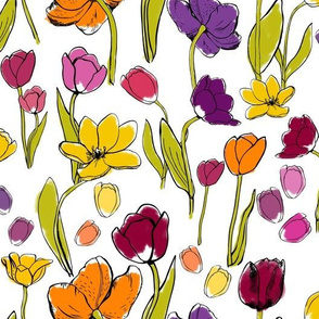 Funky Tulips Wild