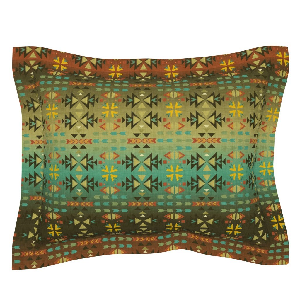Sebright Pillow Sham featuring Southwestern Warmth by cherie