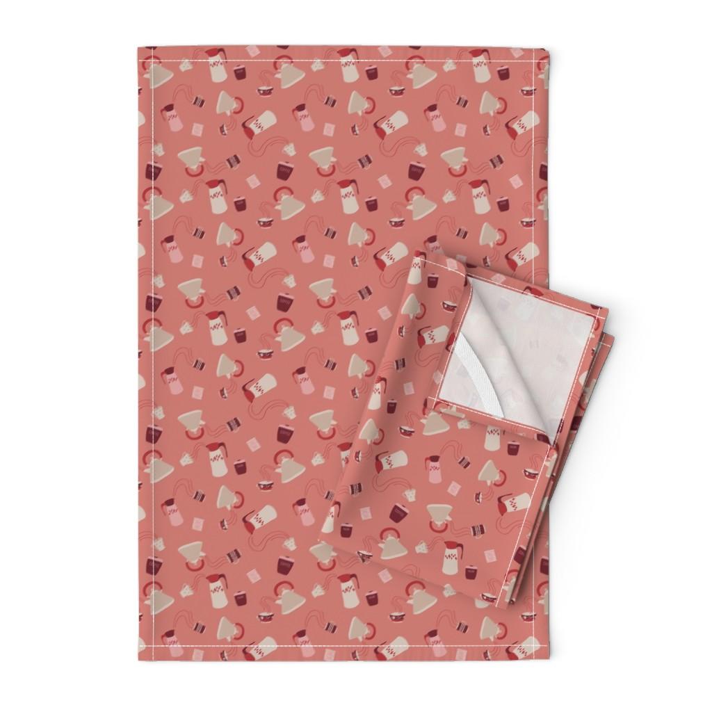 Orpington Tea Towels featuring Hot Stuff - Minx by abbyhersey