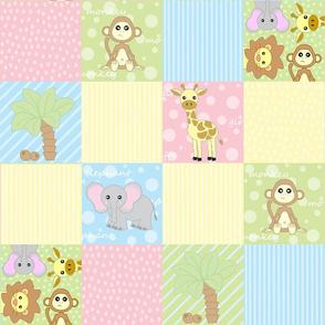 Baby Jungle Animals Print