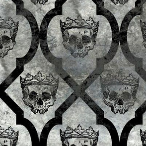 Skull Fresco - gray