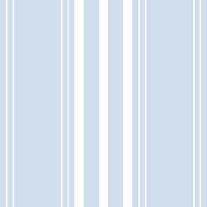 Lars Stripe in white on blueberry