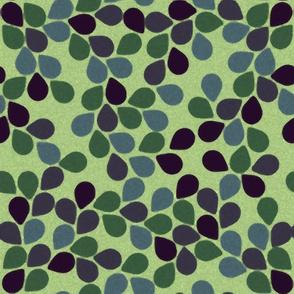swimming pool mosaic leaves