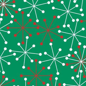 Atomic Snowflakes- XL Green