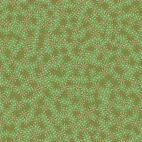 Atomic Snowflakes- XL Olive