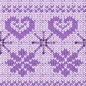 Scandinavian Knitting (Purple)