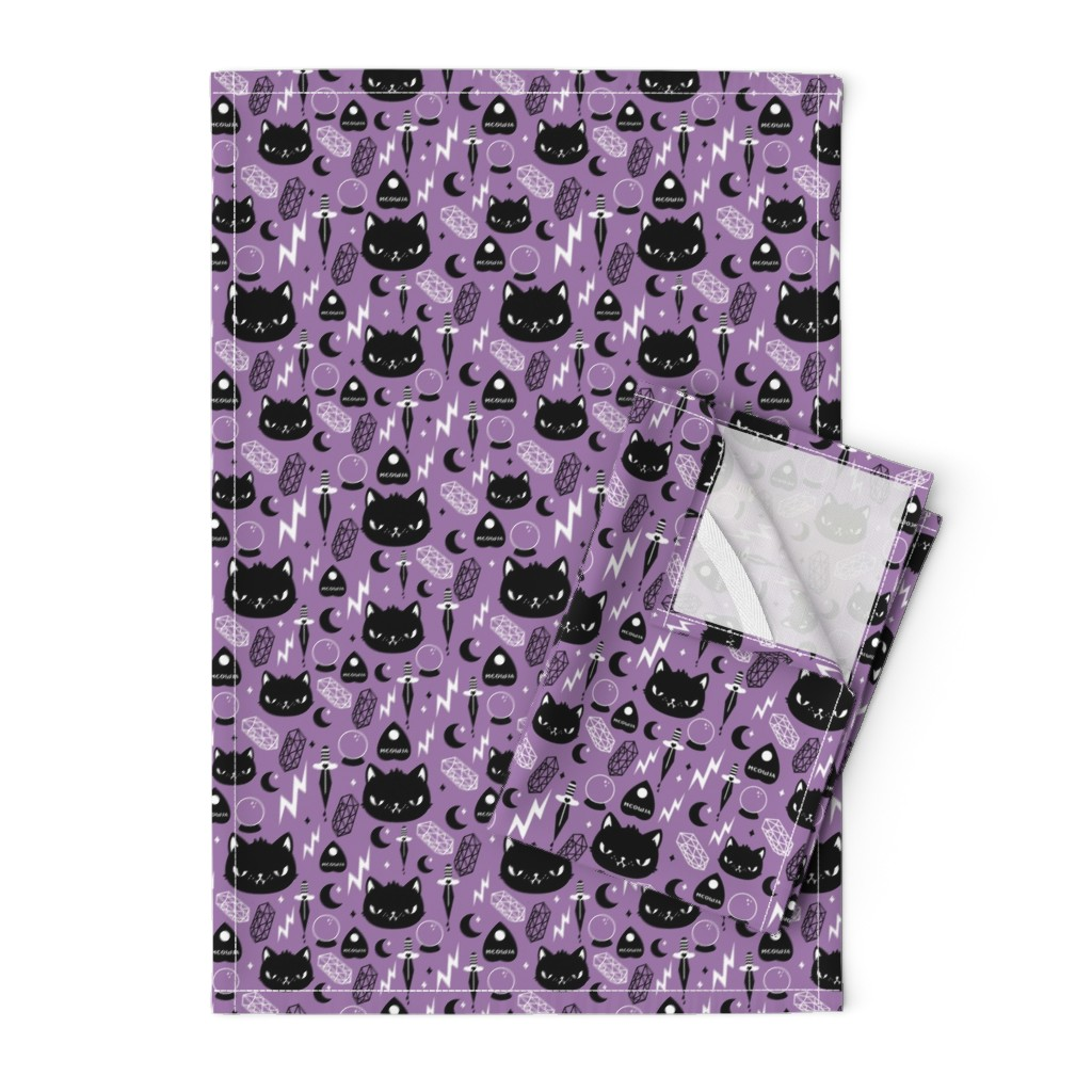 Orpington Tea Towels featuring Cat Magic by emandsprout