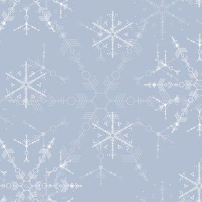 Cosmic Snowflakes on silver