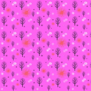 Winter Forests in Pink