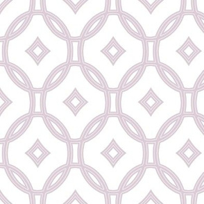 diamond lattice in lilac-mauve
