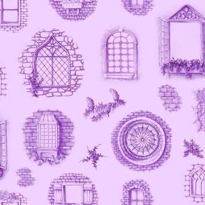 Purple Window Toile