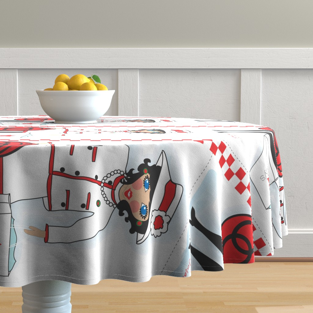 Malay Round Tablecloth featuring Tea towel  by orangefancy