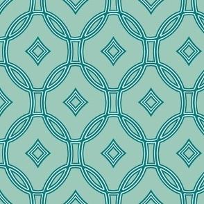 diamond lattice in teal