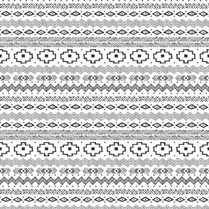 Southwest Stripes (Black and White)