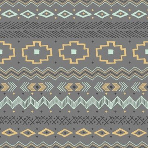 Southwest Tribal (Gray and Gold)