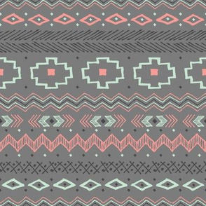 Southwest Tribal (Gray and Pink)